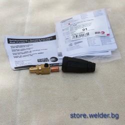 Заваръчен конектор/байонет, 10-25 мм², мъжки