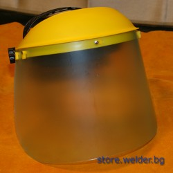 Защитен шлем, с прозрачен екран за шмиргелене