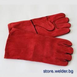 Червени заваръчни ръкавици ESAB 10/XL