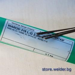 Пръчки неръждаем тръбен ВИГ тел, WAROD 316L-G